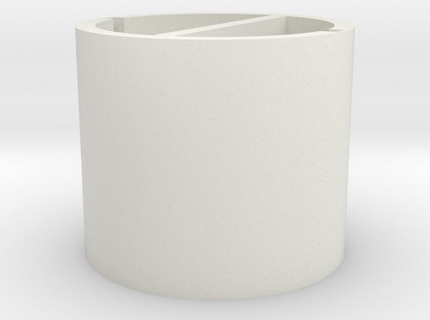 Separated  round pen in White Natural Versatile Plastic
