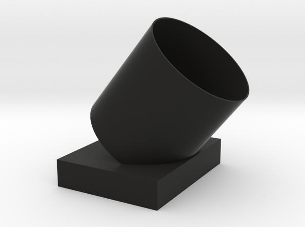 Tilt the  umbrella  barrel in Black Natural Versatile Plastic