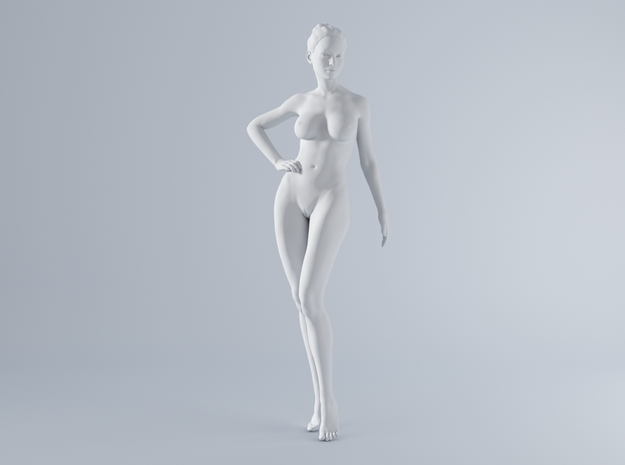Mini Sexy Woman 036 1/64 in Smooth Fine Detail Plastic: 1:64 - S