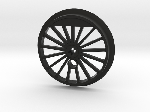 XXL Flanged Driver - 17 Spokes - No Traction Tire  in Black Natural Versatile Plastic