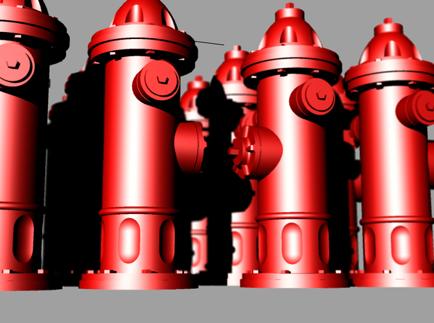 Hydrant type : A 00 (1:76) 16 Pcs 3d printed