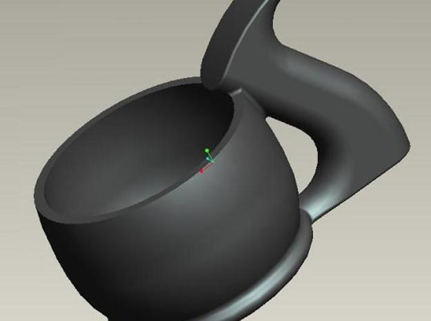 Plane Tote Espresso Cup 3d printed Stylish in Black Ceramic