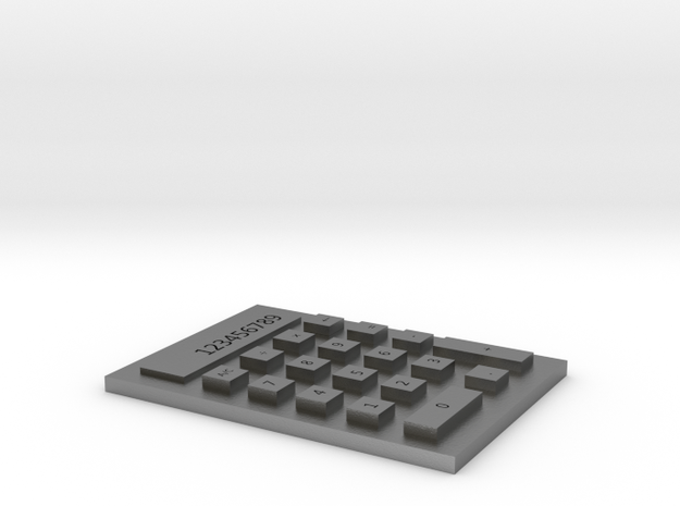 Calculator in Natural Silver