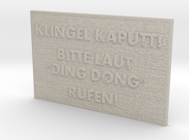 """Name Plate """"Ding Dong"""" in Natural Sandstone"""