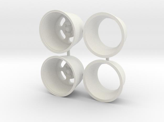 "Ansen Slot 15 inch Deep 15"" 1/12 in White Natural Versatile Plastic"