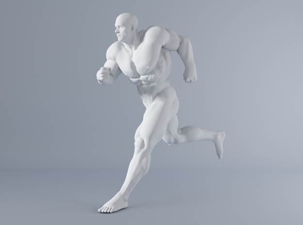 Mini Strong Man 1/64 040 in Smooth Fine Detail Plastic: 1:64 - S