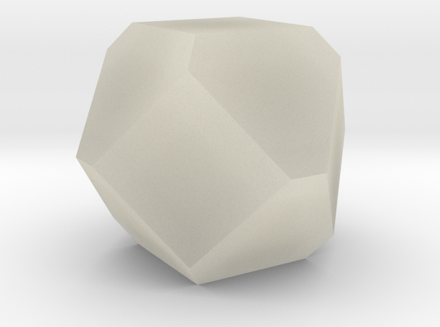 Cuboctohedral Fourteen-sided Die in Transparent Acrylic
