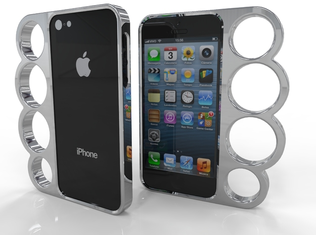 4 Finger IPhone 5 Case 3d printed 4 Finger IPhone 5 Case