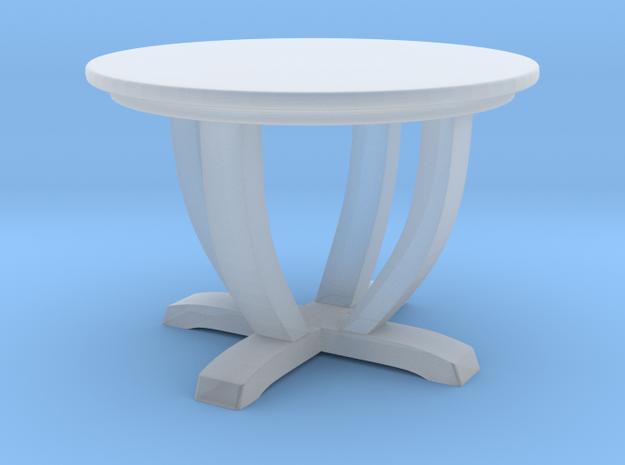 Simple Round Dining Table in Smooth Fine Detail Plastic: 1:48 - O