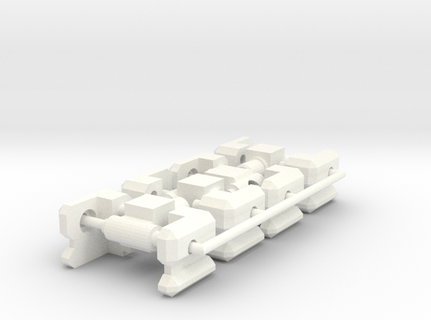 CW joint plugs with 5mm Adaptors in White Processed Versatile Plastic