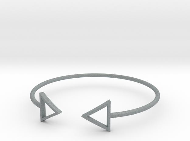Arrow Around Bracelet S-L in Polished Metallic Plastic: Small