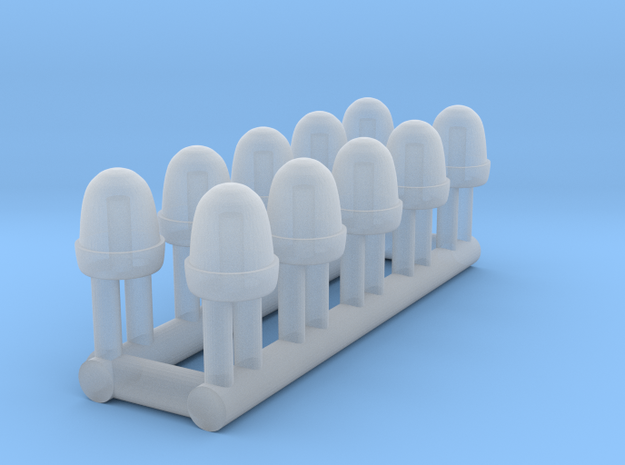 Tractor Beacon in Smooth Fine Detail Plastic