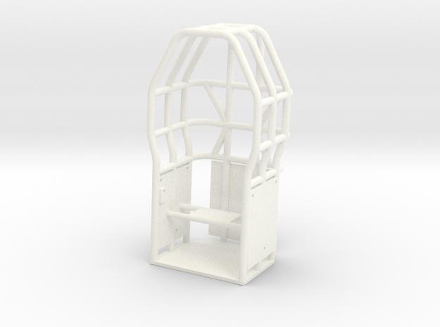 SATISFACTION CAGE in White Processed Versatile Plastic