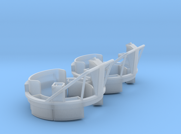1:30 scale MG Carriage Mk17 PAIR in Smooth Fine Detail Plastic