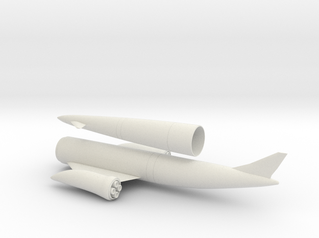 1/144 SKYLON UK SSTO SPACE PLANE in White Strong & Flexible