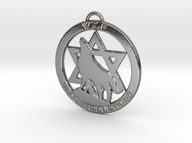 Wolf Video Productions Pendant in Polished Silver
