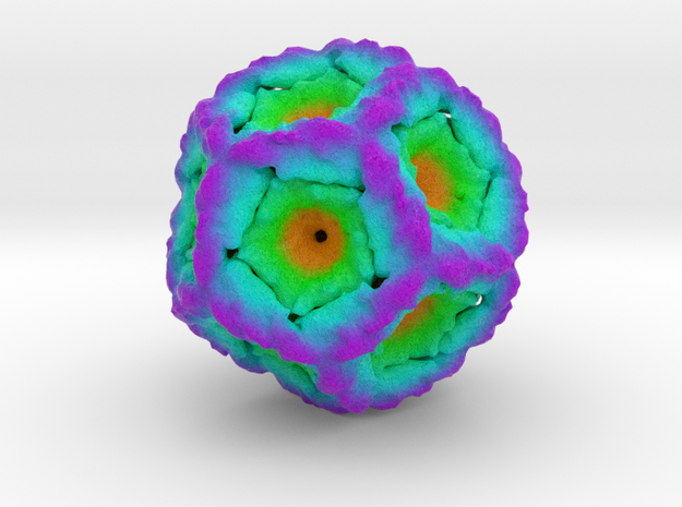 Bacteriophage Phi6 in Full Color Sandstone