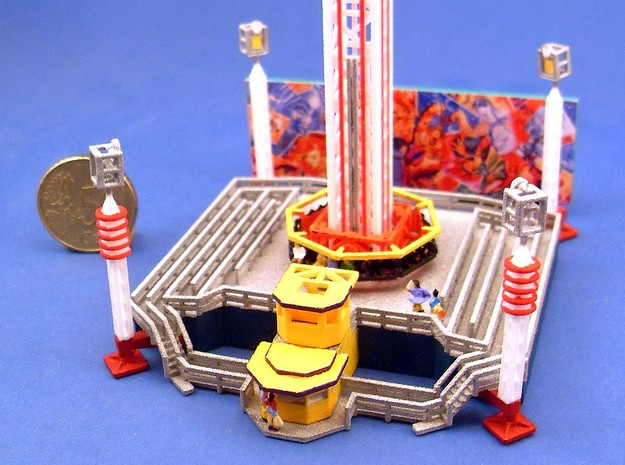 Power Tower - 1:220 (z scale) 3d printed bemalt und dekoriert - painted and decorated