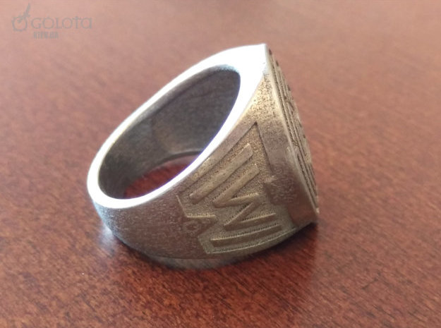 Westworld Ring 232 in Polished Nickel Steel: Extra Large