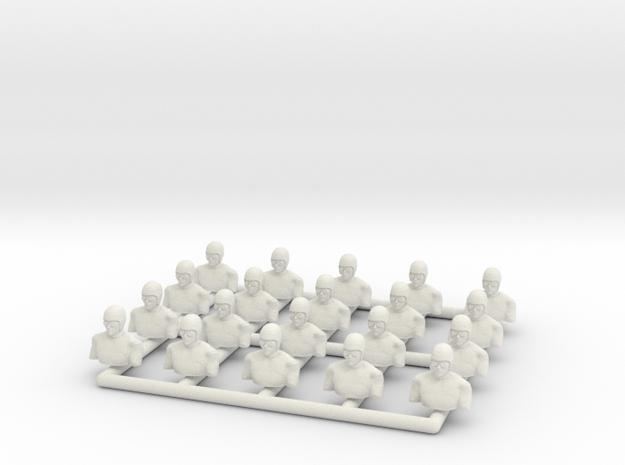 1:72 WWI Pilots [x20] in White Natural Versatile Plastic