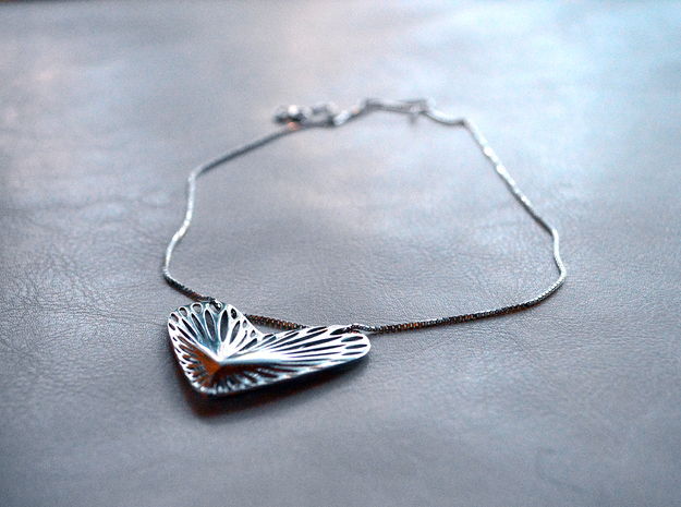 Hearts can't be broken in Polished Silver