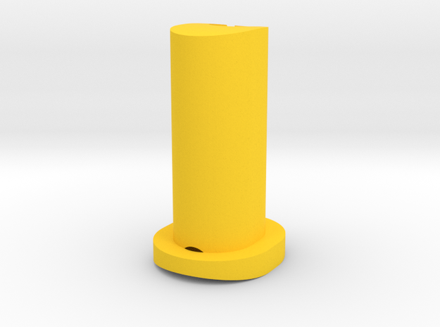 GF5 Plus 15 Caster Insert (Yellow) in Yellow Processed Versatile Plastic