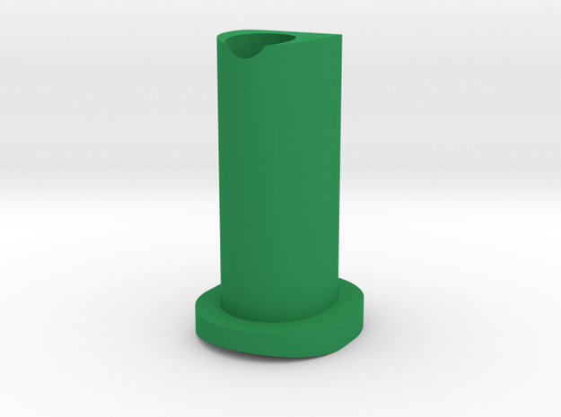 GF5 Minus 15 Caster Insert in Green Strong & Flexible Polished