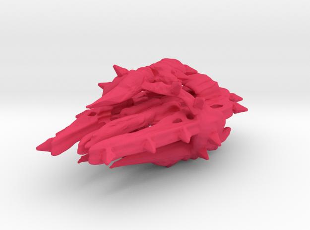 Colour Swarm Battleship in Pink Processed Versatile Plastic