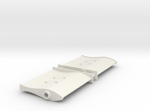 SMIT BRONCO - Rudder (2 pcs) in White Natural Versatile Plastic