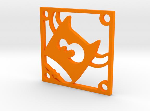 "Fan Grille 30x30mm ""Team Meuhh"" in Orange Processed Versatile Plastic"