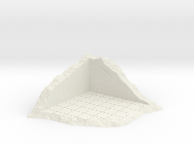 Corner Of Structure In Shamble in White Natural Versatile Plastic