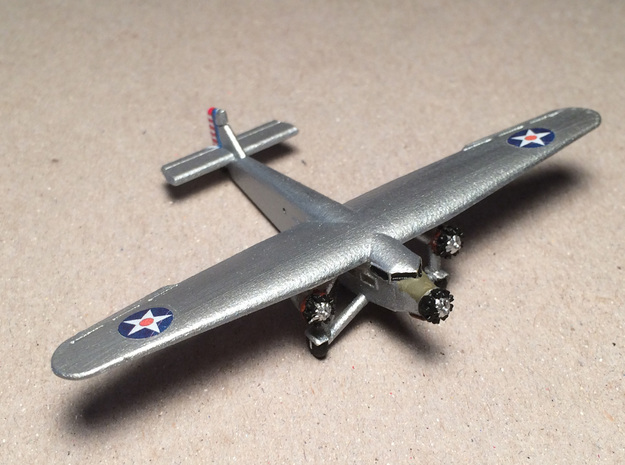 Ford 5-A-TC Trimotor 1/285 Scale in Frosted Ultra Detail