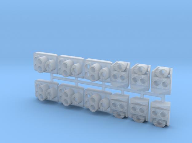 SP Original Pack Flat Back (HO - 1:87) (6X) in Smooth Fine Detail Plastic