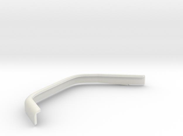 DeAgostini Hummer H1 Rear fender spreader left in White Natural Versatile Plastic