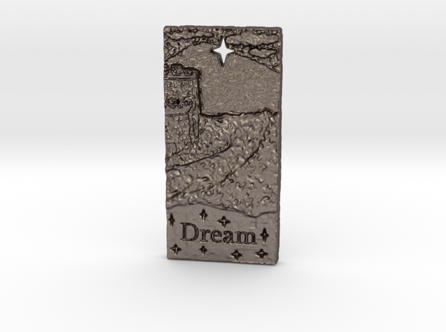 Dream Castle by ~ M. in Polished Bronzed Silver Steel