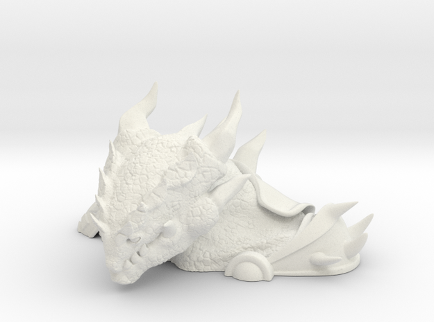 Small General Dungore Bust in White Natural Versatile Plastic