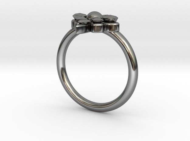 Delphine Ring in Premium Silver