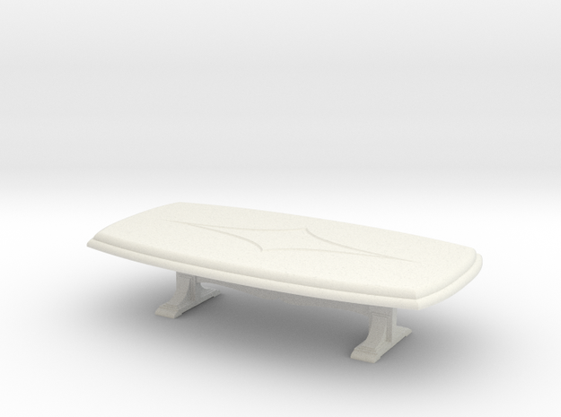 Dining Table. 1:48 in White Natural Versatile Plastic