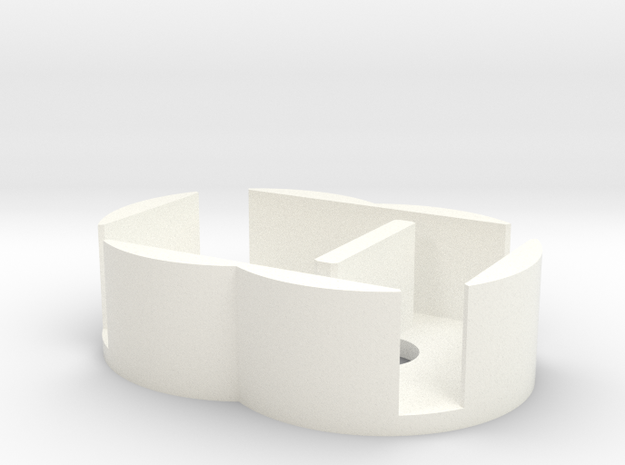 D6 Holder - Expanded in White Processed Versatile Plastic