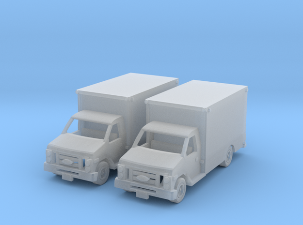 Ford E 450 Box Truck Z Scale in Smooth Fine Detail Plastic