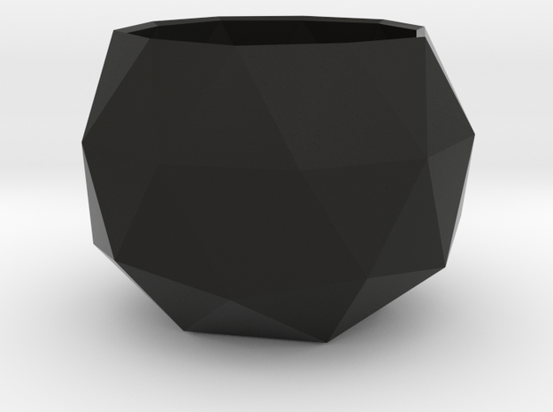Tiny Flower Pot in Black Natural Versatile Plastic