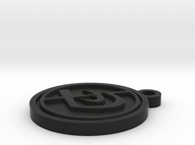 Krav Tag in Black Natural Versatile Plastic