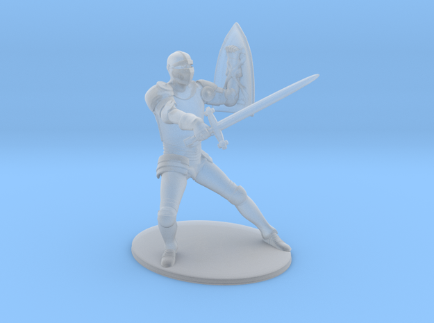 Paladin Miniature in Smooth Fine Detail Plastic: 1:60.96