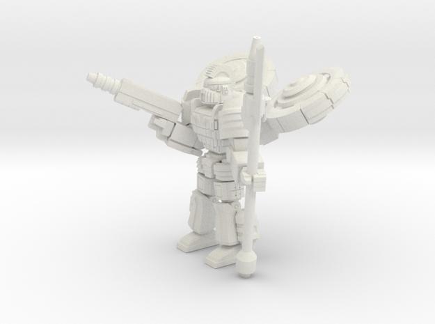 Gargoyle pose1 in White Natural Versatile Plastic