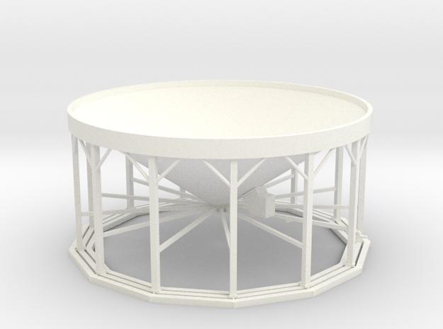 1/64 Hopper Bin 13Leg - With Aeration  in White Processed Versatile Plastic
