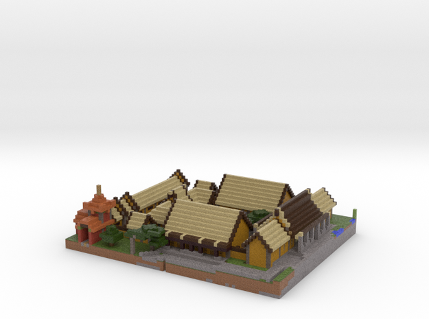 Piece of the Imperial Village in Full Color Sandstone