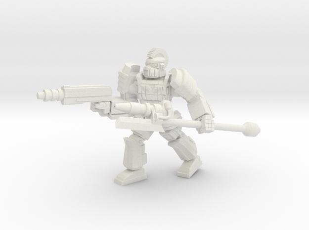 Gargoyle pose 3 in White Natural Versatile Plastic