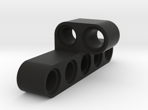 5 Stud Cross Beam in Black Natural Versatile Plastic