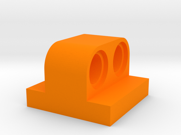 2x2 Brick To Beam in Orange Processed Versatile Plastic