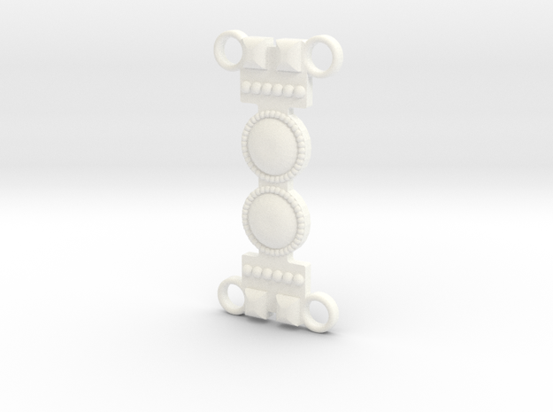 Khaleesi Belt A in White Processed Versatile Plastic